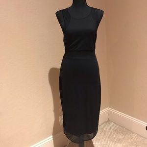 Express black long dress
